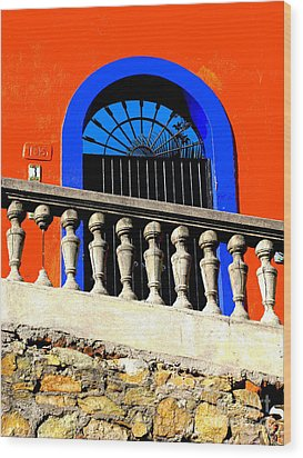 Blue Arch 1 By Michael Fitzpatrick Wood Print by Mexicolors Art Photography