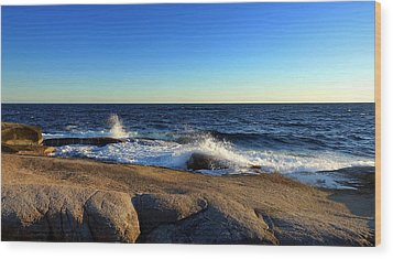 Blue Atlantic Wood Print by Heather Vopni