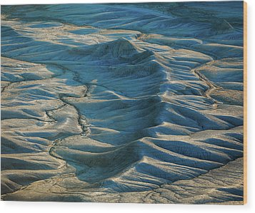 Wood Print featuring the photograph Blue Badlands by Johnny Adolphson