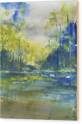 Blue Bayou Wood Print by Robin Miller-Bookhout