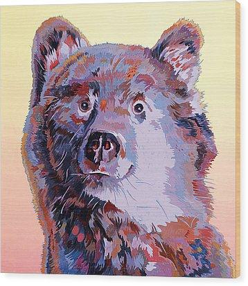 Blue Bear Wood Print by Bob Coonts
