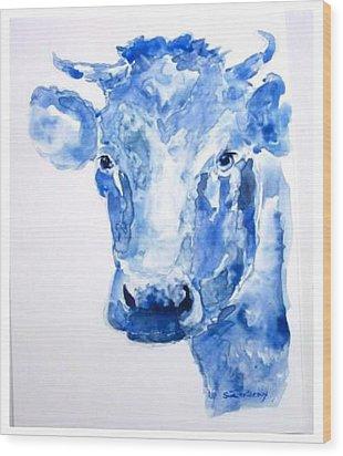 Blue Bonnet  Wood Print by Sue Prideaux