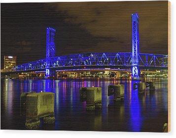 Wood Print featuring the photograph Blue Bridge 1 by Arthur Dodd