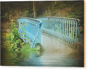 Blue Bridge Wood Print by Svetlana Sewell