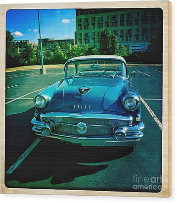 Blue Buick Wood Print by Terry Rowe