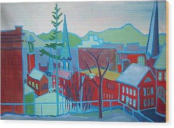 Blue Burlington Wood Print by Debra Bretton Robinson
