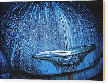 Blue Chevy Wood Print