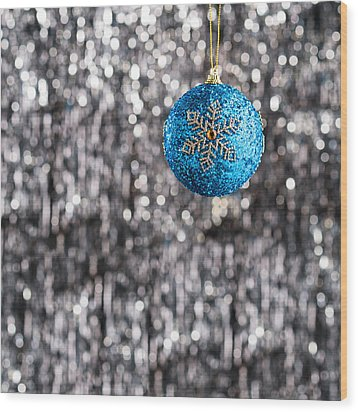 Wood Print featuring the photograph Blue Christmas by Ulrich Schade