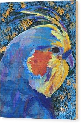 Blue Cockatiel Wood Print