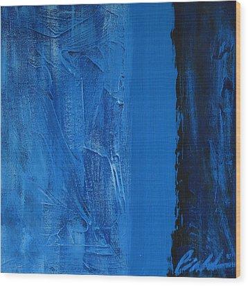 Blue Collar Wood Print
