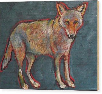 Blue Coyote Santa Fe Style Wood Print