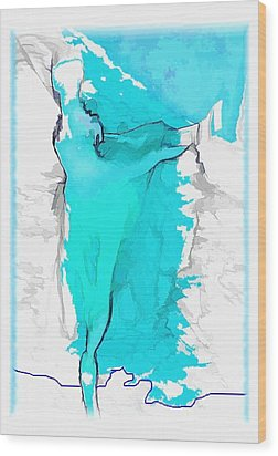 Blue Dancer Wood Print