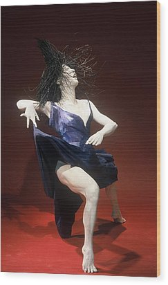 Blue Dancer Right View Wood Print by Gordon Becker