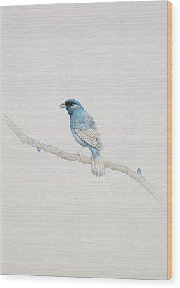 Blue Wood Print by Diego Fernandez