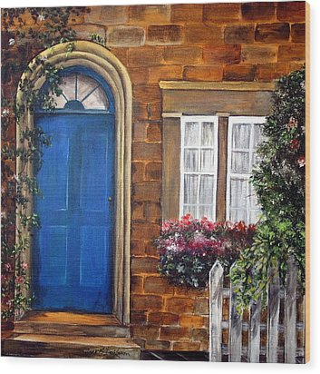 Blue Door 2 Wood Print