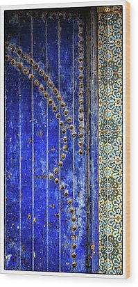 Wood Print featuring the photograph Blue Door In Marrakech by Marion McCristall