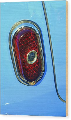 Wood Print featuring the photograph Blue Dot Taillight by Lynn Bawden