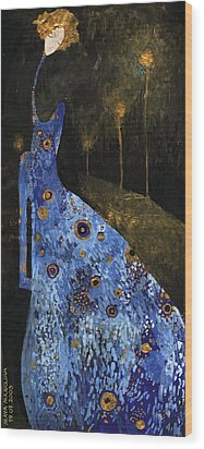 Blue Dreams Wood Print