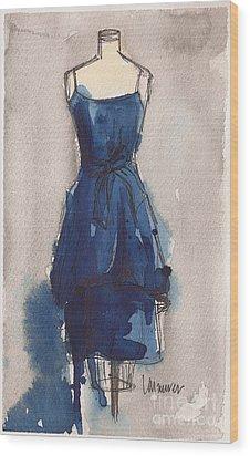 Blue Dress II Wood Print by Lauren Maurer