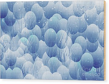 Wood Print featuring the photograph Blue Eggs - Abstract Background by Michal Boubin