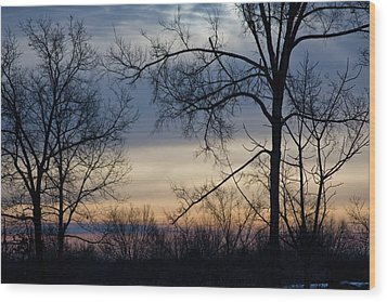 Blue Eye Sunrise Wood Print