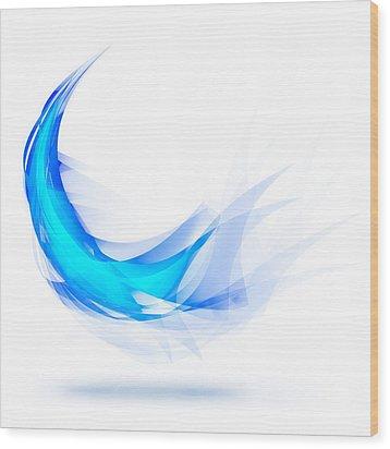 Blue Feather Wood Print by Setsiri Silapasuwanchai