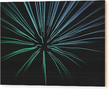 Wood Print featuring the photograph Blue Firework by Chris Berry