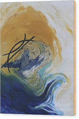 Wood Print featuring the painting Blue Flame Vi by Christiane Schulze Art And Photography