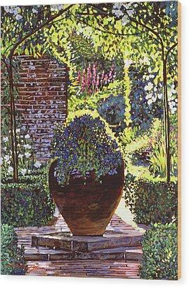 Blue Flowers Wood Print by David Lloyd Glover
