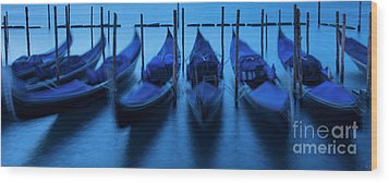Wood Print featuring the photograph Blue Gondolas by Brian Jannsen