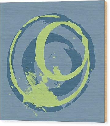 Blue Green 2 Wood Print by Julie Niemela