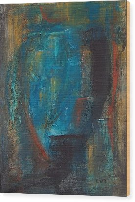 Blue Grotto Wood Print by Karen Day-Vath