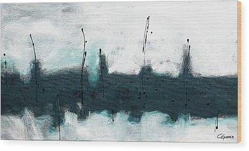 Wood Print featuring the painting Blue Harbour by Carmen Guedez
