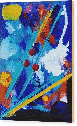 Blue Harmony  #128 Wood Print by Donald k Hall
