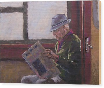 Blue Hat Retired Wood Print by Mary McInnis
