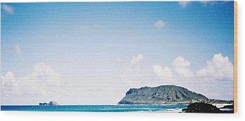 Blue Hawaii Wood Print by Judyann Matthews