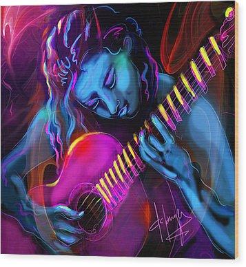 Blue Heart Wood Print by DC Langer