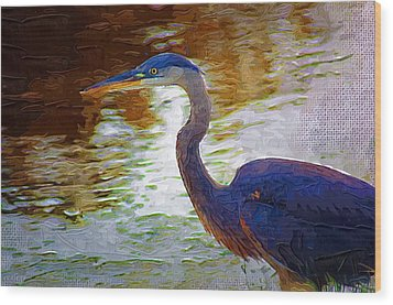 Wood Print featuring the photograph Blue Heron 2 by Donna Bentley