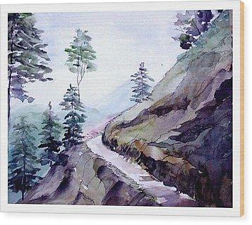 Blue Hills Wood Print by Anil Nene