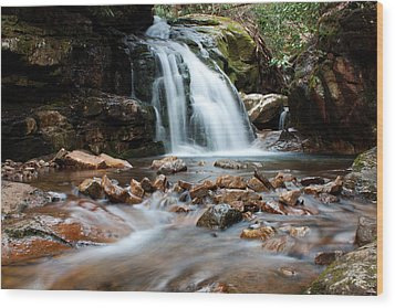 Wood Print featuring the photograph Blue Hole In Spring #3 by Jeff Severson