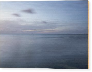 Blue Horizon Wood Print