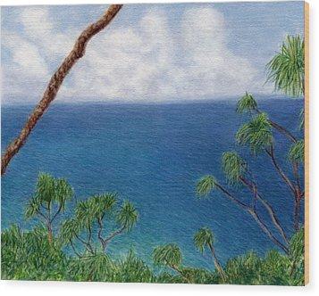 Blue Horizon Wood Print by Kenneth Grzesik