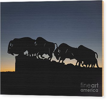 Wood Print featuring the photograph Blue Hour 16x20 by Melany Sarafis