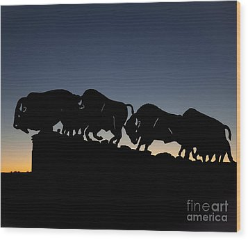 Wood Print featuring the photograph Blue Hour 24x20  by Melany Sarafis