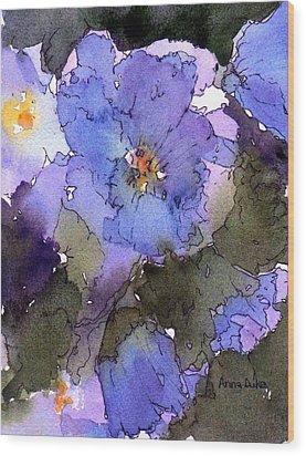 Blue Hyacinth Wood Print by Anne Duke