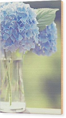 Blue Hydrangea Wood Print by Photography by Angela - TGTG