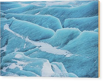Wood Print featuring the photograph Blue Ice Svinafellsjokull Glacier Iceland by Matthias Hauser