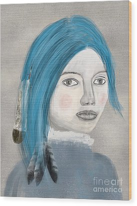 Wood Print featuring the painting Blue Jasmine by Bri B