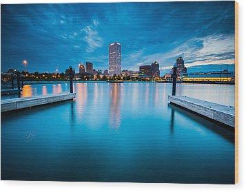 Blue Lagoon Wood Print