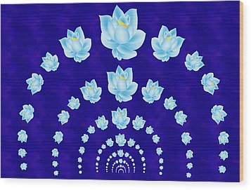 Blue Lotus Tunnel Wood Print